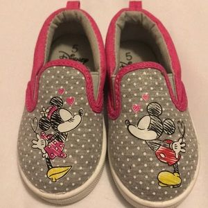 Disney Mickey and Minnie Mouse Canvas Shoes